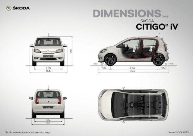 Серийный электромобиль Skoda Citigo-e iV представлен официально: мощность 61 кВт, батарея 36,8 кВтч и запас хода 265 км (WLTP) - ITC.ua