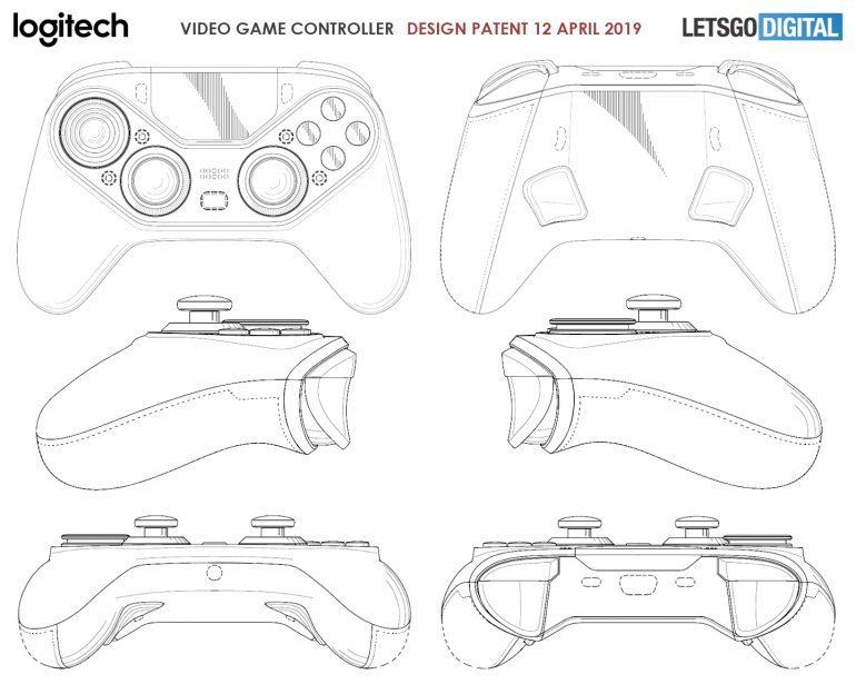 Патент описывает новый геймпад Logitech с сенсорной панелью