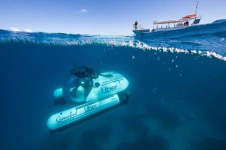 """В Австралии запускают """"подводное такси"""" scUber, с помощью которого можно будет исследовать Большой барьерный риф на субмарине [видео] - ITC.ua"""