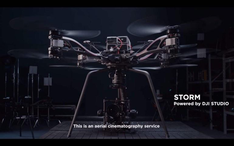DJI Storm - октокоптер, предназначенный для аэросъемки с использованием кинокамер