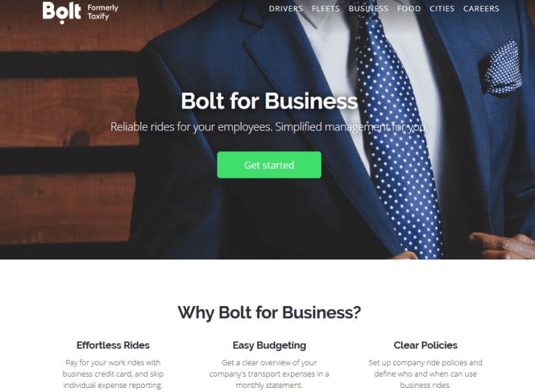 Сервис Bolt запустил портал для организации корпоративных поездок, который позволит компаниям контролировать и оплачивать поездки сотрудников