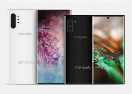 Смартфоны Samsung Galaxy Note10 и Note10 Pro получат дисплеи различных размеров, но батарею одинаковой ёмкости на 4170 мАч