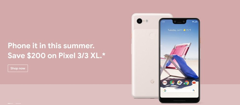 В Европе смартфоны Google Pixel 3 и Pixel 3 XL подешевели на €260
