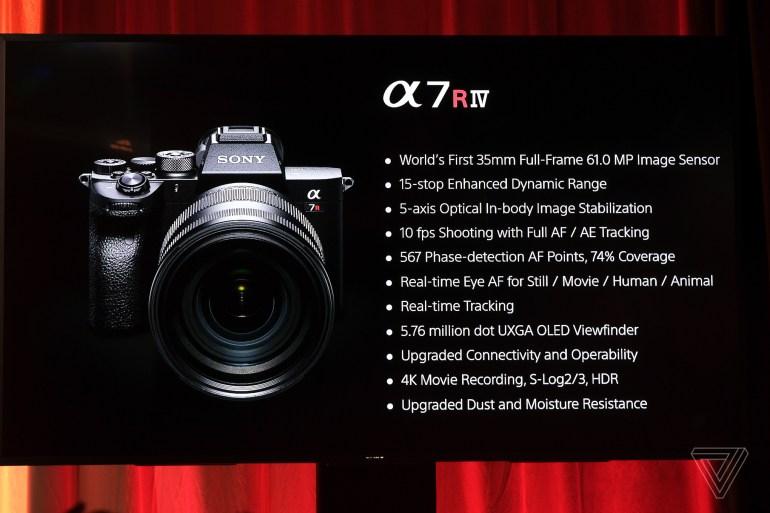 Полнокадровая беззеркальная камера Sony A7R IV получила 61-мегапиксельный сенсор и ценник в $3500