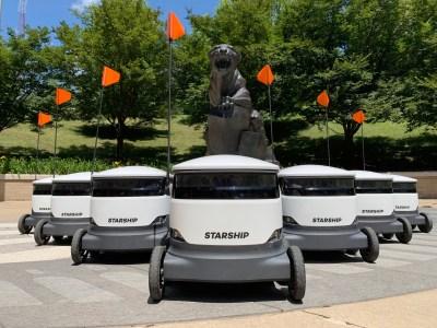 Starship Technologies отчиталась о том, что ее робокурьеры успешно доставили 6 000 пицц и 15 000 бананов