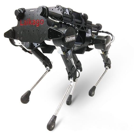 Китайцы показали, на что способны четвероногие роботы Laikago Pro, работая коллективно