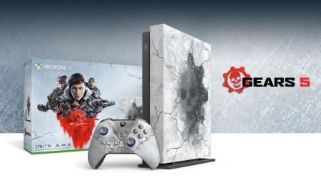 Microsoft представила консоль Xbox One X Gears 5 Limited Edition и аксессуары в стиле игры Gears 5, в комплект поставки входят ключи на все версии Gears of War