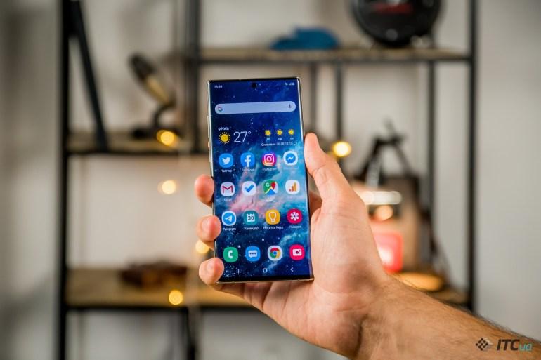 Galaxy Note10+ дизайн
