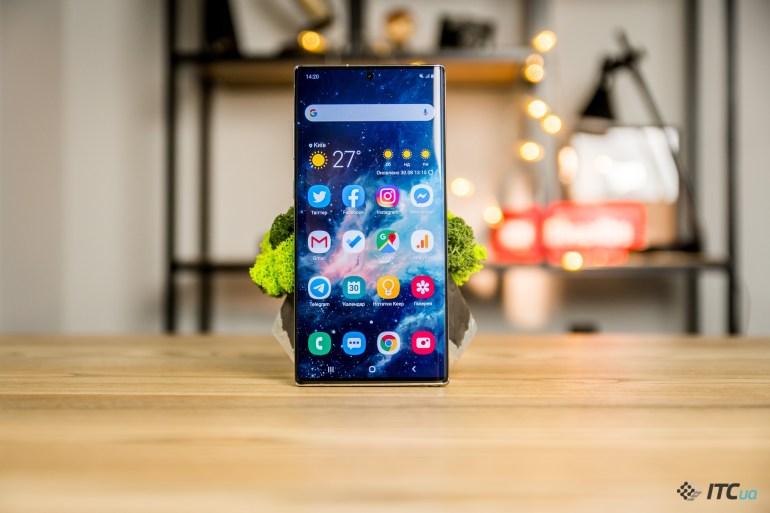 Galaxy Note10+ экран