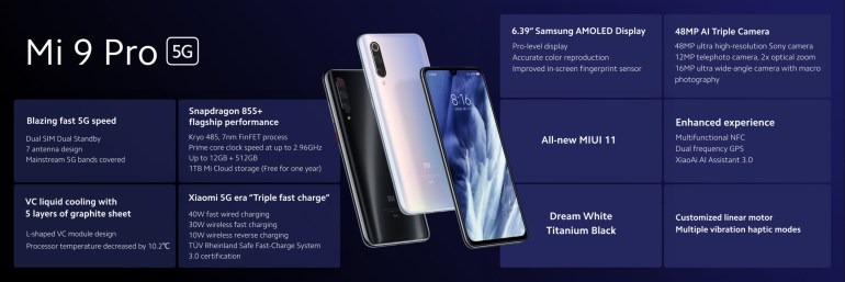 Помощневший флагман Xiaomi Mi 9 Pro 5Gпредставлен официально: Snapdragon 855+, 12 ГБ ОЗУ и 30-ваттная беспроводная зарядка
