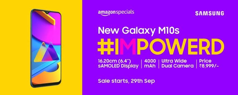 Обновленный Samsung Galaxy M10s получил экран AMOLED, более производительную SoC, аккумулятор на 4000 мА•ч, USB-C и быструю зарядку при цене $130