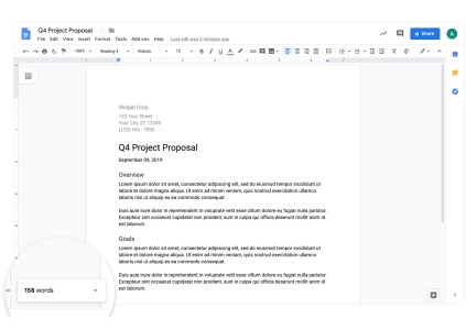В Google Docs наконец добавили счетчик слов прямо на экран ввода текста
