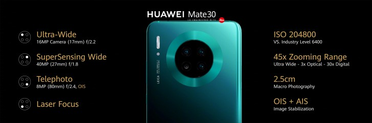 Анонсированы смартфоны Huawei Mate 30 и Mate 30 Pro