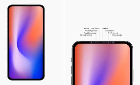 По слухам, iPhone 2020 года лишатся «челки» за счет размещения камеры и датчиков в верхней части окантовки дисплея