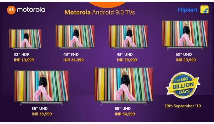 В серию умных телевизоров Motorola вошли модели диагональю 32, 43, 50, 55 и 65 дюймов, цены — от $200 до $900