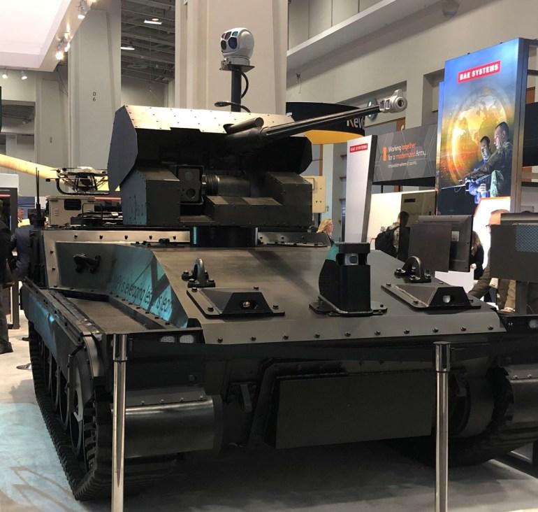 С заботой об экологии и безопасности солдат: BAE Systems показала прототип гибридного робота-танка