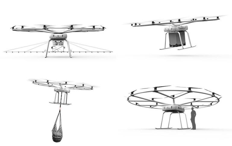 Volocopter представила грузовой дрон VoloDrone