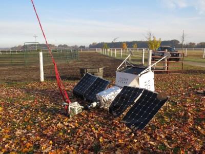 Аэростат программы Samsung SpaceSelfie совершил жёсткую посадку на ферме в Мичигане