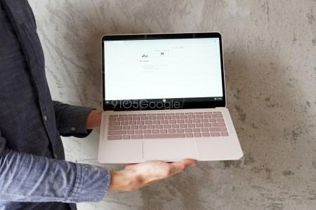 Ноутбук Google Pixelbook Go с необычной рельефной фактурой корпуса засветился на живых фотографиях