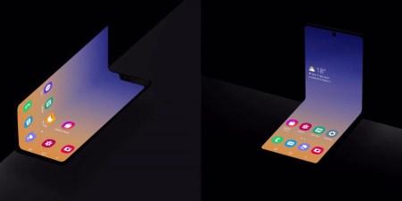 Samsung показала концептуальную раскладушку с гибким экраном, похожую на складывающийся пополам Galaxy Note10