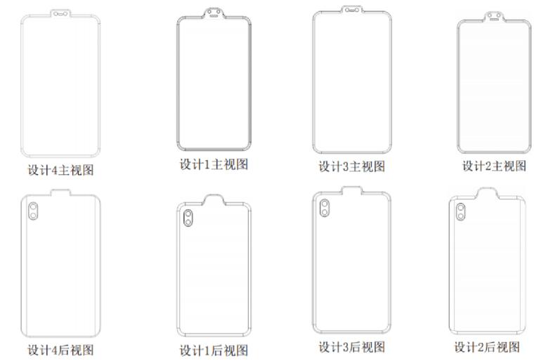 """Samsung запатентовал """"обратную челку"""" для смартфонов, которая выносит фронтальную камеру и другие модули за пределы матрицы"""