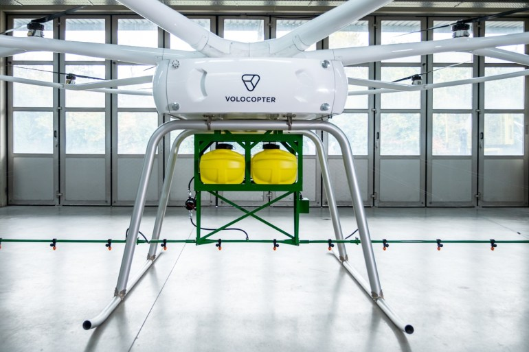 Грузовым дроном Volocopter заинтересовался производитель сельскохозяйственного оборудования John Deere