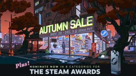 В Steam стартовала «Осенняя распродажа» игр и выбор номинантов на премию Steam Awards 2019