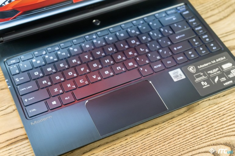 MSI Modern 14 touchpad