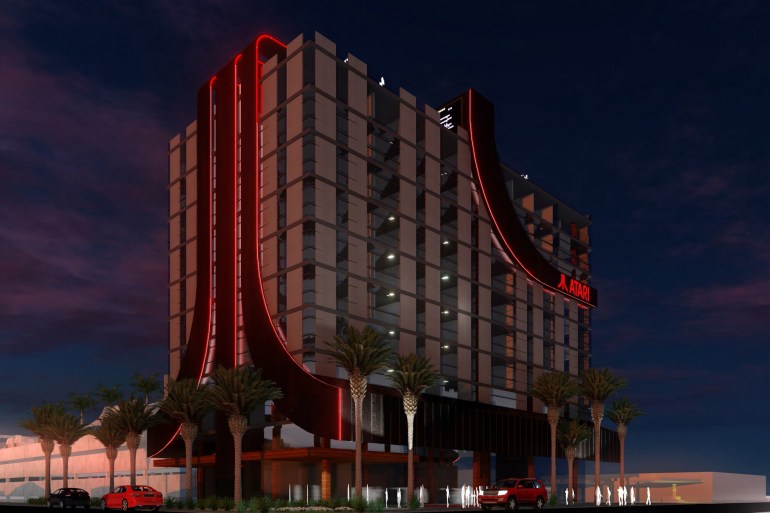 В США построят восемь брендированных отелей Atari для геймеров (с игровыми залами, оборудованием для стриминга и т.п.)