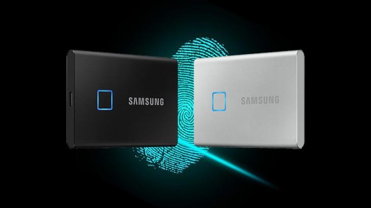 Samsung анонсировала высокоскоростной PCIe 4.0 SSD и портативный накопитель со сканером отпечатков пальцев