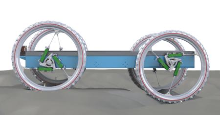 Разработанные австралийскими инженерами колеса с актуаторами позволили условному робомобилю менять наклон корпуса и регулировать дорожный просвет на ходу
