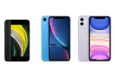 iPhone SE 2020 по сравнению с iPhone Xr и iPhone 11