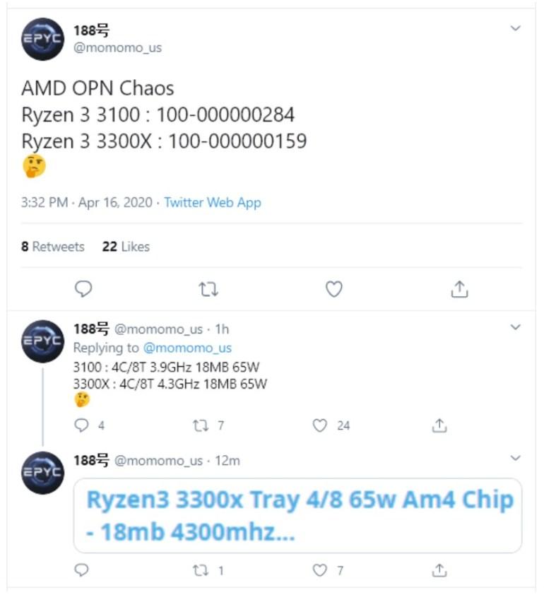 AMD готовит линейку процессоров Ryzen 3 3000 c архитектурой ZEN 2