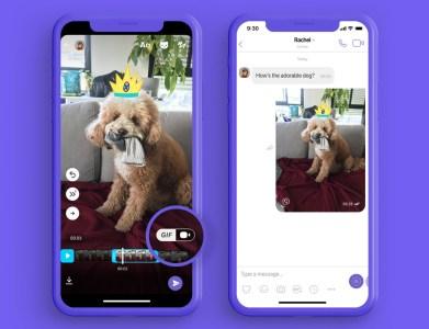 Viber запустил функцию создания анимированных GIF-файлов непосредственно в мессенджере
