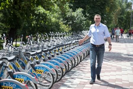 Виталий Кличко: «За два года существования услугами муниципального велопроката Nextbike/Bikenow воспользовались более 75 тыс. раз» [видео]