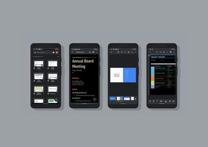 Google Docs, Sheets и Slides для Android получили тёмный режим