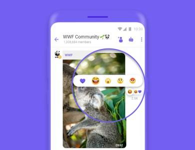 В мессенджер Viber добавили новую функцию «реакции на сообщения», которая скоро будет доступна в сообществах