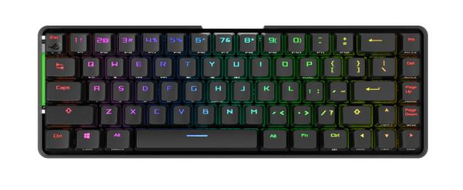 ASUS ROG Falchion — беспроводная игровая клавиатура в новом форм-факторе «65%» с сенсорной панелью