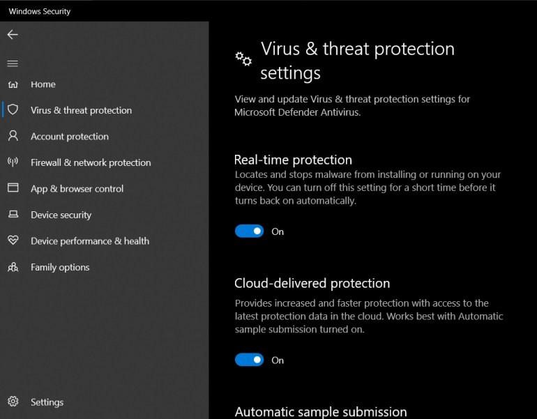 Microsoft убрала возможность полного отключения встроенного антивируса Windows 10