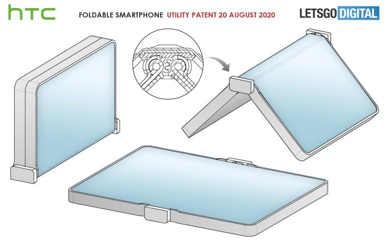 HTC запатентовала телефон-раскладушку с гибким экраном наружу