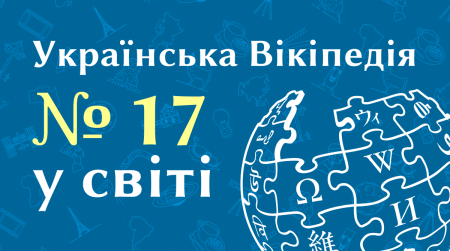 Українська Вікіпедія вийшла на 17 місце за кількістю статей серед 303 мовних розділів