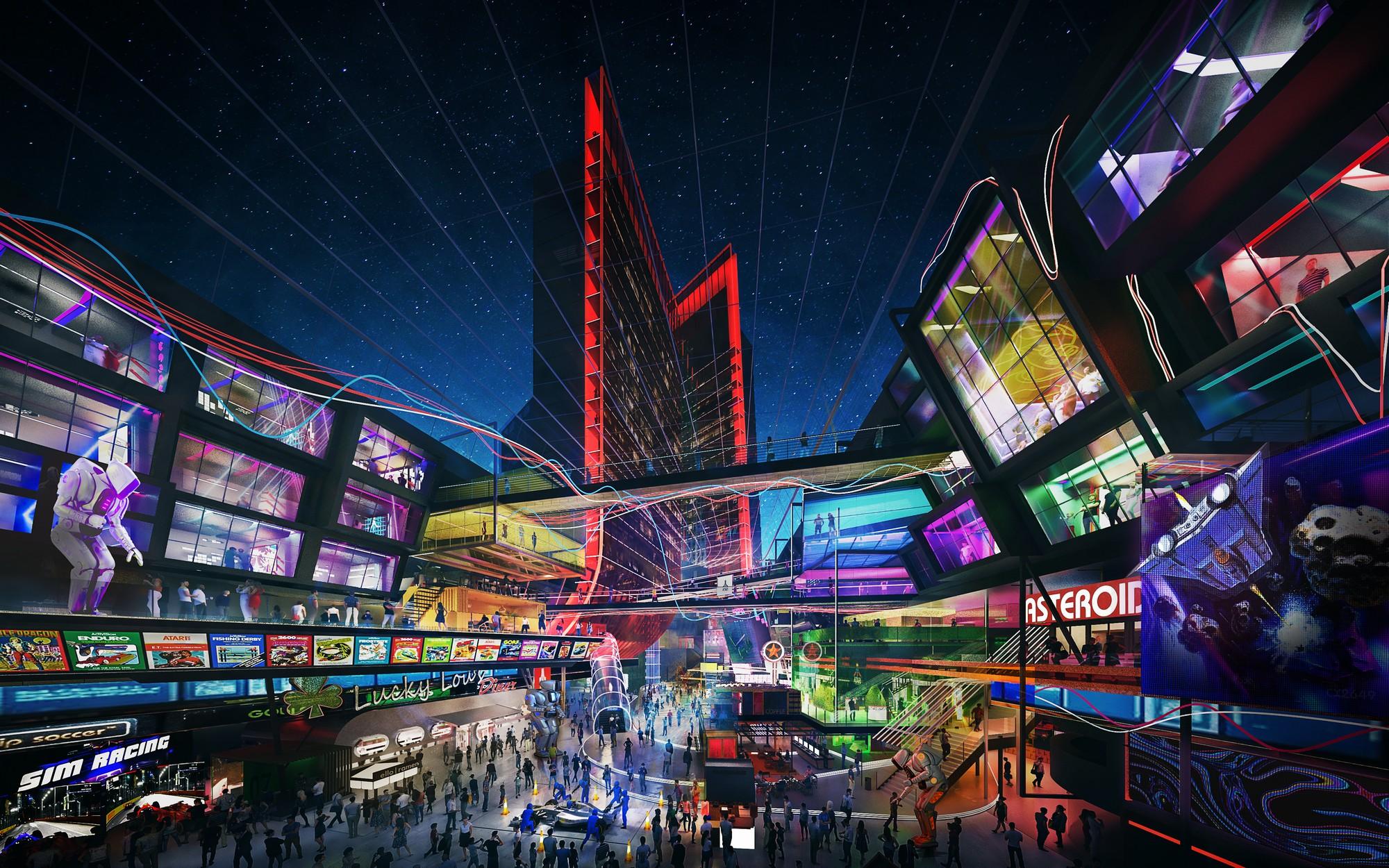 """""""Чистый киберпанк"""": Atari показала, как будут выглядеть фирменные отели компании для геймеров Atari Hotels - ITC.ua"""