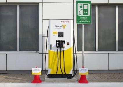 YASNO E-mobility подключил к своей сети первую партнерскую скоростную зарядку (50 кВт) для электромобилей (на Троещине)