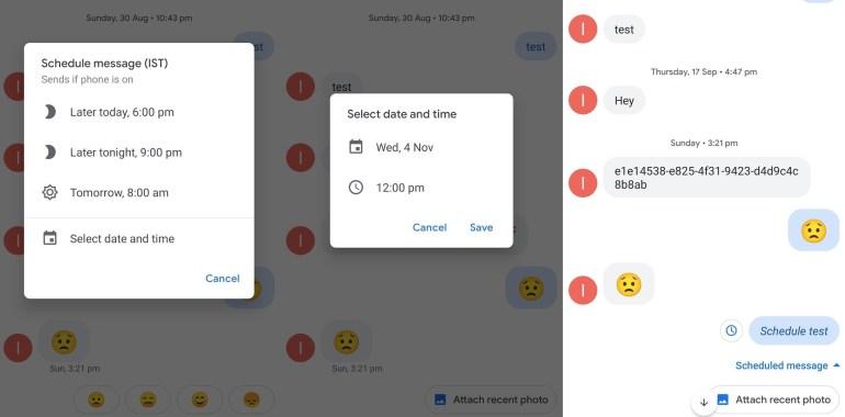 В Google Messages тестируются запланированные сообщения