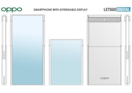 Oppo показала концепт смартфона со сворачивающимся дисплеем