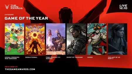 Объявлены все номинанты игровой премии The Game Awards 2020, по количеству лидируют The Last of Us 2, Hades и Ghost of Tsushima