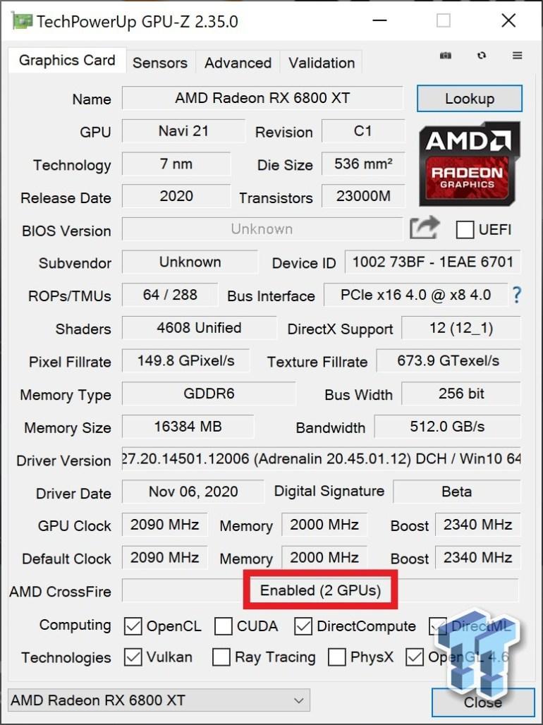 Связку из двух видеокарт AMD Radeon RX 6800 XT протестировали в различных играх и разрешениях