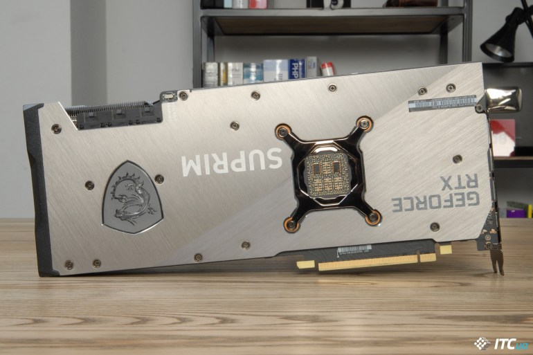 MSI GeForce RTX 3080 SUPRIM X 10G backplate