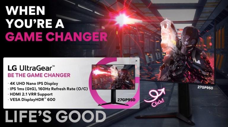 LG показала на CES 2021 свой первый игровой монитор с поддержкой HDMI 2.1 – 27GP950 UltraGear