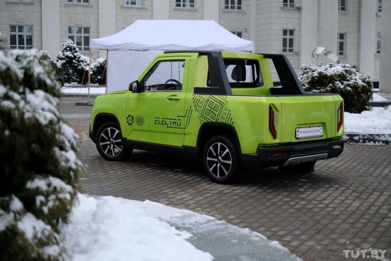 """В Беларуси разработали """"каркасно-панельный"""" электрический пикап Academiс electro с мощностью 80 кВт и запасом хода до 150 км"""
